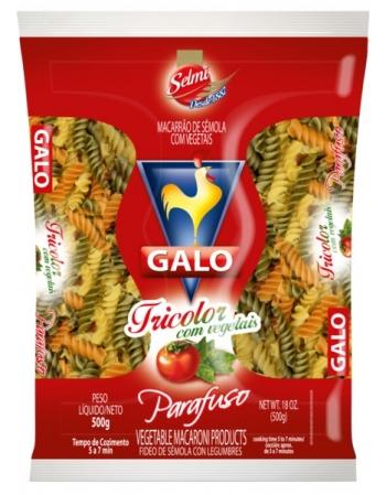 MAC GALO SEMOLA PARAFUSO TRICOLOR 500G