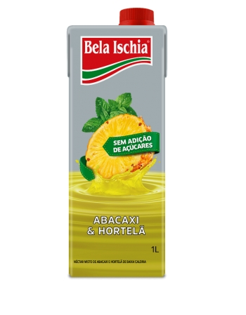 NECTAR BELA ISCHIA BX CALORIA ABACAXI E HORTELA 1000ML