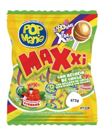 PIRULITO POP MANIA MAXXI GUARANA 24UN
