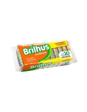 ESPONJA BRILHUS MULTI PACK C/10