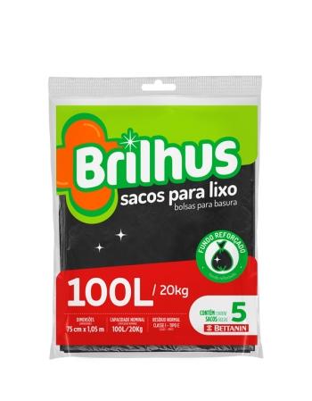 SACO P/ LIXO BRILHUS ALMOFADA 100L