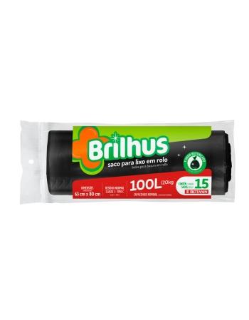 SACO P/ LIXO BRILHUS ROLO 100L