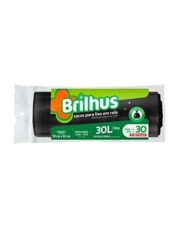 SACO P/ LIXO BRILHUS ROLO 30L