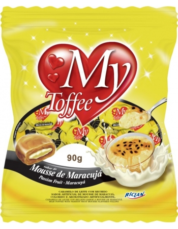 BALA MY TOFFEE LEITE MARACUJA 90G