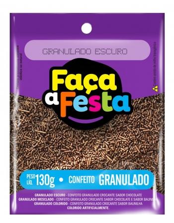 GRANULADO FACA A FESTA ESCURO 130G