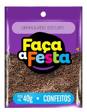 GRANULADO FACA A FESTA ESCURO 40G