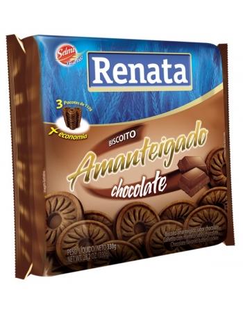 BISC RENATA AMANTEIGADO CHOCOLATE 330G