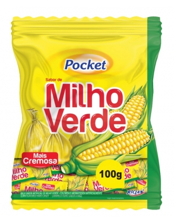 BALA POCKET MILHO VERDE 100G