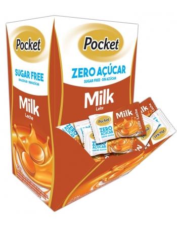BALA POCKET ZERO MILK CANG 230G 100UN