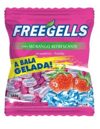BALA FREEGELLS MORANGO 584G