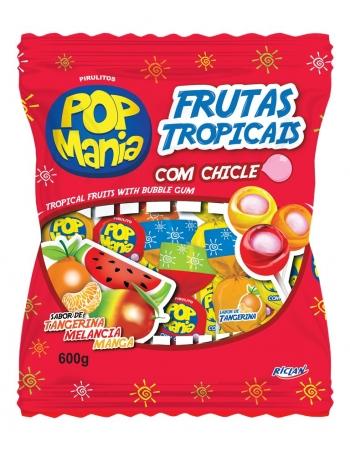 PIRULITO POP MANIA FRUTAS TROPICAIS 50UN
