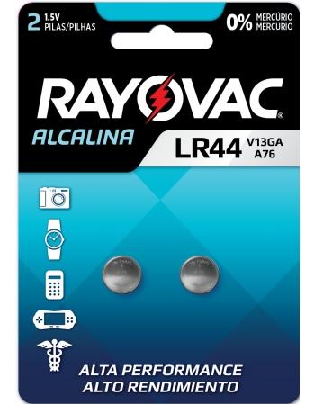 PILHA ELETRONICA RAYOVAC V13GA LR44 2UN