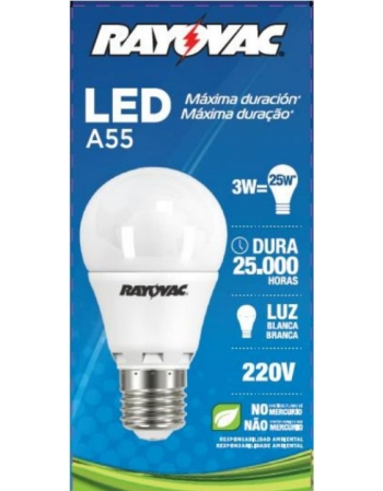 LAMPADA RAYOVAC LED 3.0W BRANCA 220V