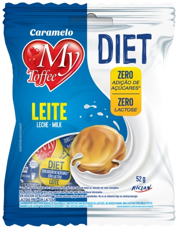 BALA MY TOFFEE DIET ZERO LACTOSE LEITE 52G