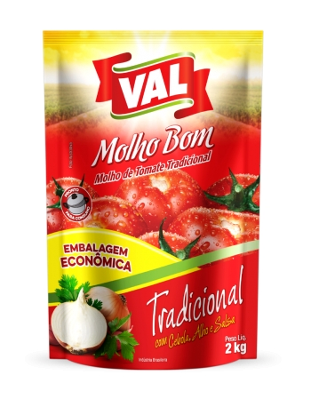MOLHO TOMATE VAL POUCH 2KG