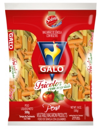 MAC GALO SEMOLA PENA TRICOLOR 500G