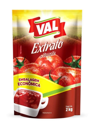 EXTRATO TOMATE VAL POUCH 2KG