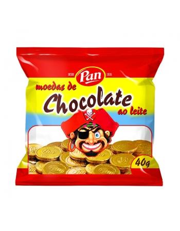 MOEDA CHOCOLATE AO LEITE PAN DP 350G