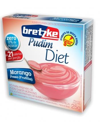 PUDIM BRETZKE DIET MORANGO 25G