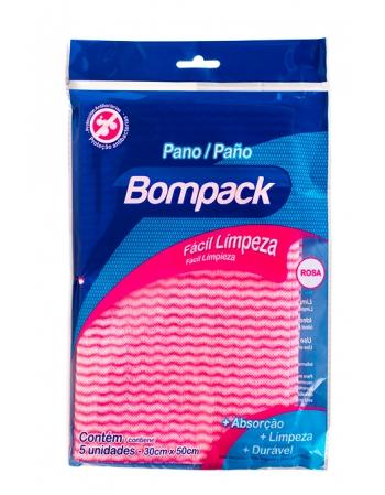PANO BOMPACK PLUS LIMP LEVE ROSA 30X50 C 5UN