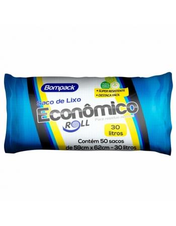 SACO DE LIXO BOMPACK 30LT ECONOMICO 50UN